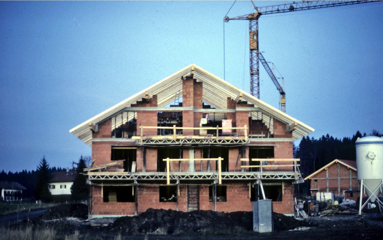 Rohbau unserer Büroräume 1986